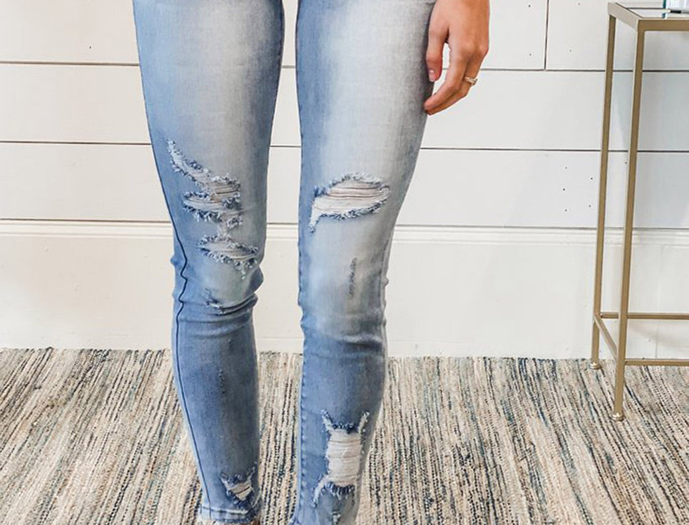 Casey Faded Distressed Jeans