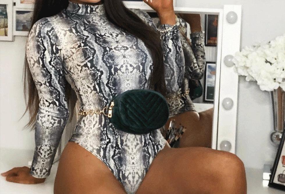 Mya Snake Print Bodysuit