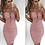 Thumbnail: Toya Baby Pink Suede Lace Up Bodycon Dress