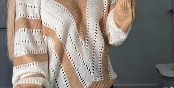Cara Contrasted Knitted Lounge Sweater