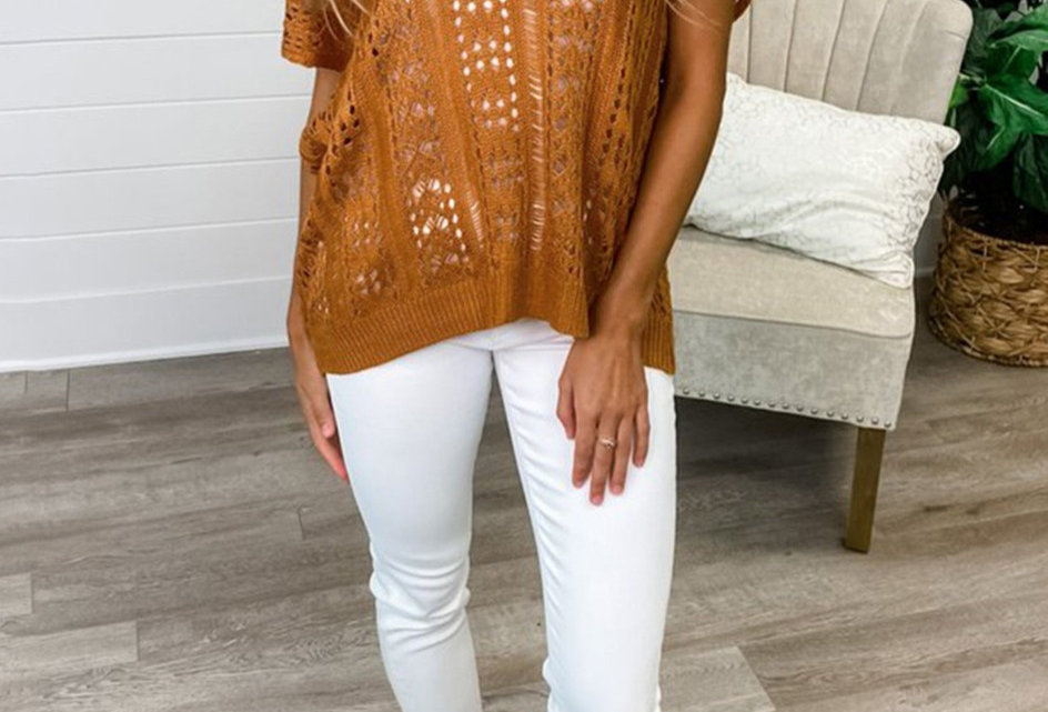 Faith Hollow Out Knitted Top