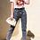Thumbnail: Couture Short Sleeve Black Lips Slogan T-shirt