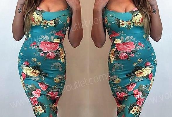Holly Floral Midi Camo Dress