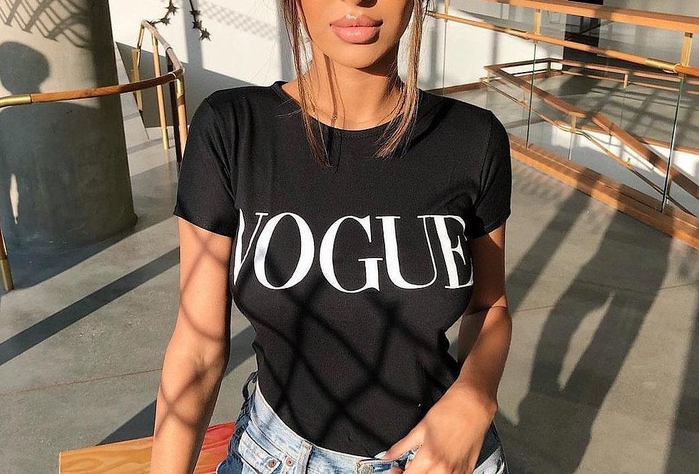 Vogue Basic Print T-shirt