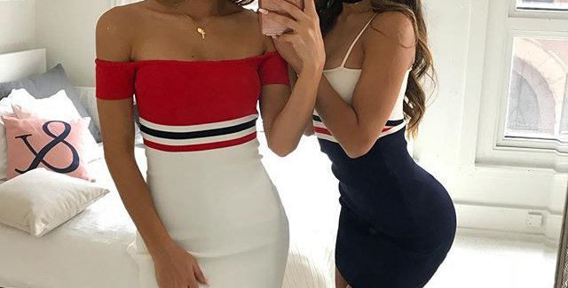 Leanne Stripe Bodycon Dress