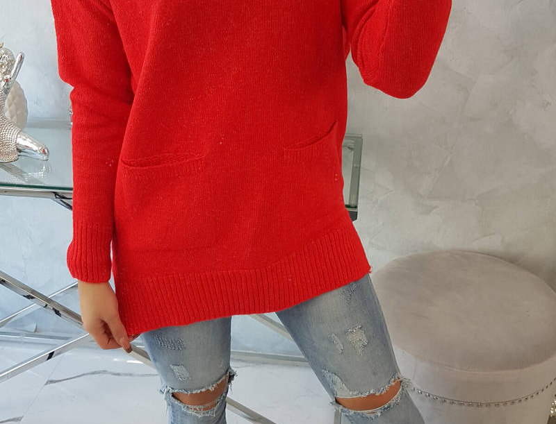 Mandy Polo Pocketed Knitted Sweater
