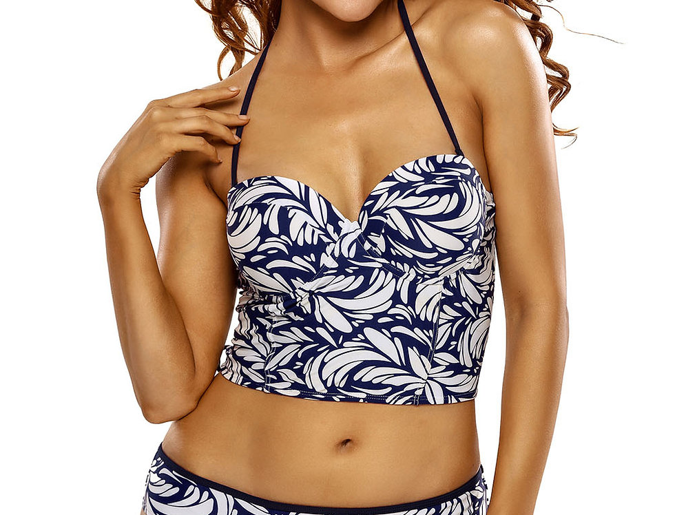 Molly Blue Swirl Print Bikini Set