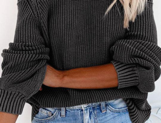 Nikki Cold Shoulder Knitted Keyhole  Jumper