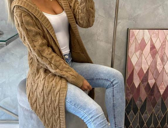 Adela Thick Knitted Trench Cardigan Jacket