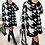 Thumbnail: Anne Houndstooth Knitted Loose Jumper Dress