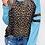 Thumbnail: Luna Long Sleeve Leopard Print Baseball Sweater Top