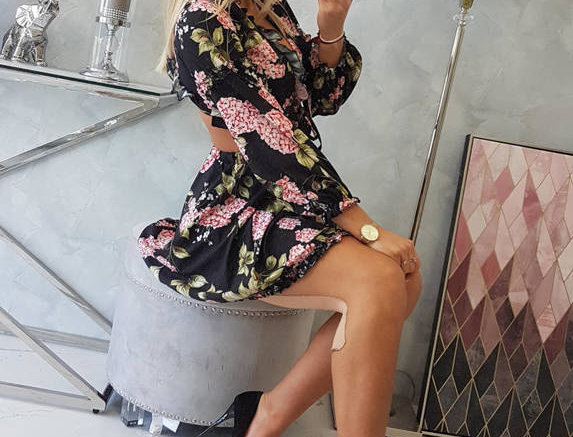 Reese Cut Out Corset Floral Baby Doll Dress