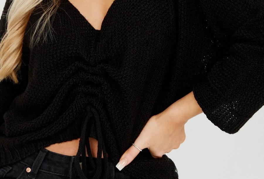 Bella Knitted Rutched Crop Top