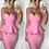 Thumbnail: Barbie 2PC Bandage Peplum Skirt Set