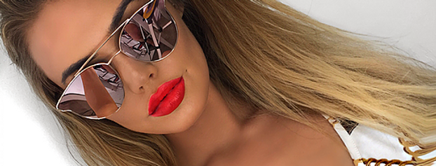 SALE Pink Mirror Sunglasses