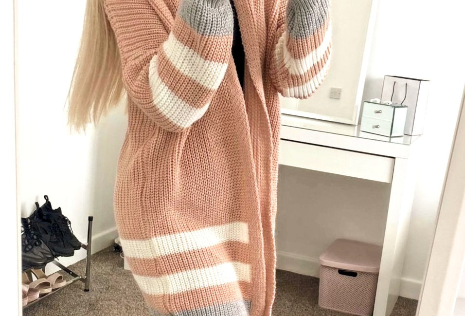 Cindy Baby Pink Knitted Cardigan