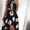 Thumbnail: Tamsyn Black High Low Floral Maxi Dress