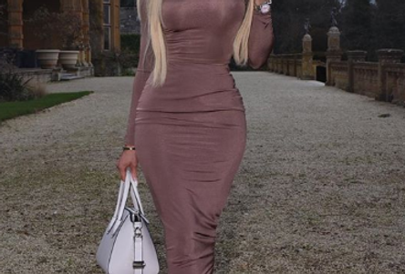 Mona Sophisticated Long Sleeve Midi Dress