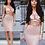 Thumbnail: Sapphire Shimmer Crop Top Skirt Set