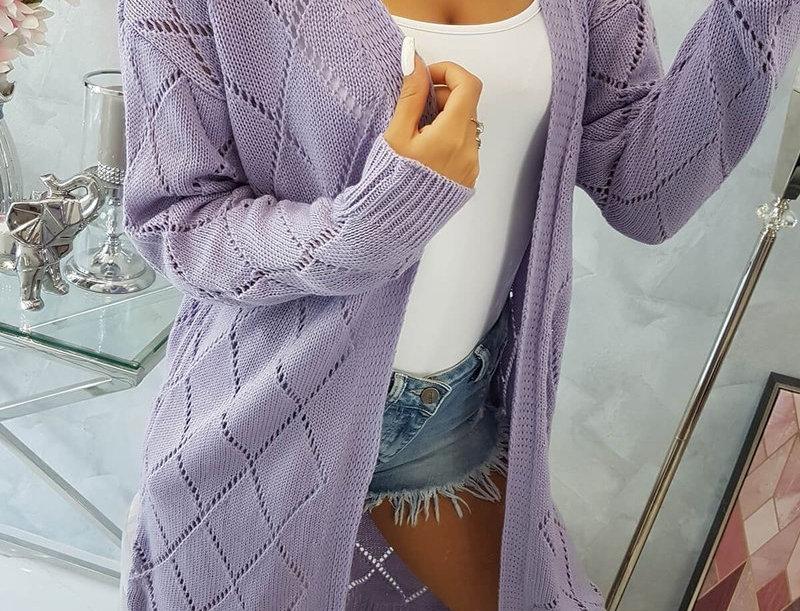 Jane Diamond Knitted Longline Cardigan