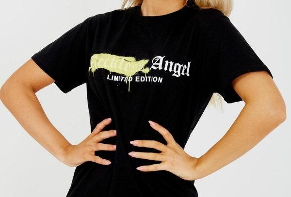 Reckless Angel Slogan T-shirt