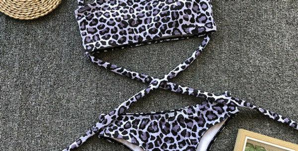 Stormi Animal Print Multi Strap Swimsuit
