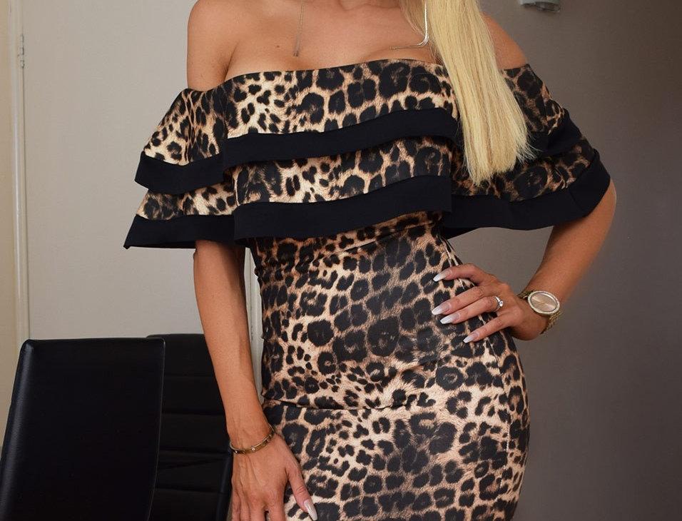 Zoe Bardot Double Frill Bodycon Dress
