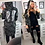 Thumbnail: Angel Army Camo Sequin Wings Hooded Trench Jacket