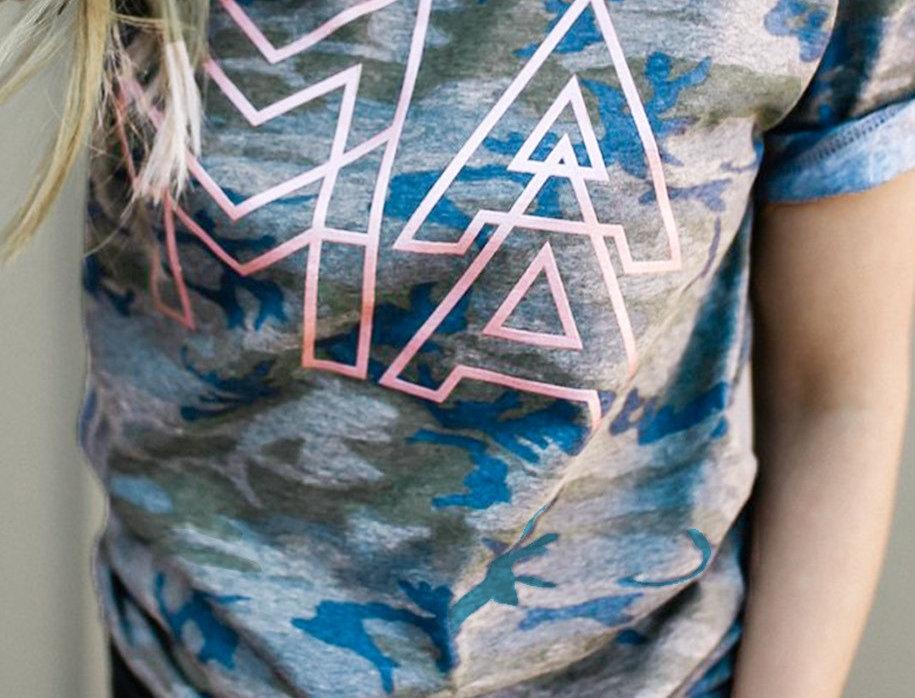 MA Metallic Camo T-shirt