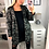 Thumbnail: Angel Black  Sequin Wings Hooded Trench Jacket
