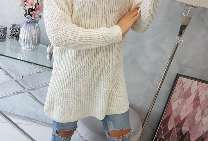 Betty Ribbed Polo Neck Knitted Jumper Dress Top ONLY £14.99 WITH CODE LOCKDOWN21