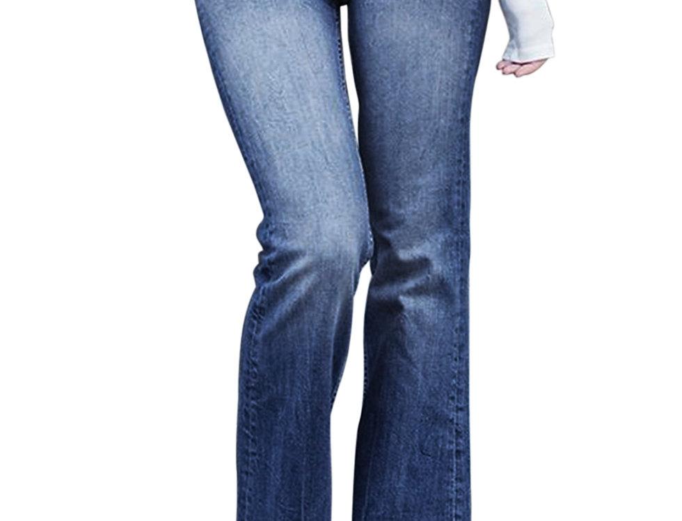 Blue Pocket Trumpet Flare Jeans