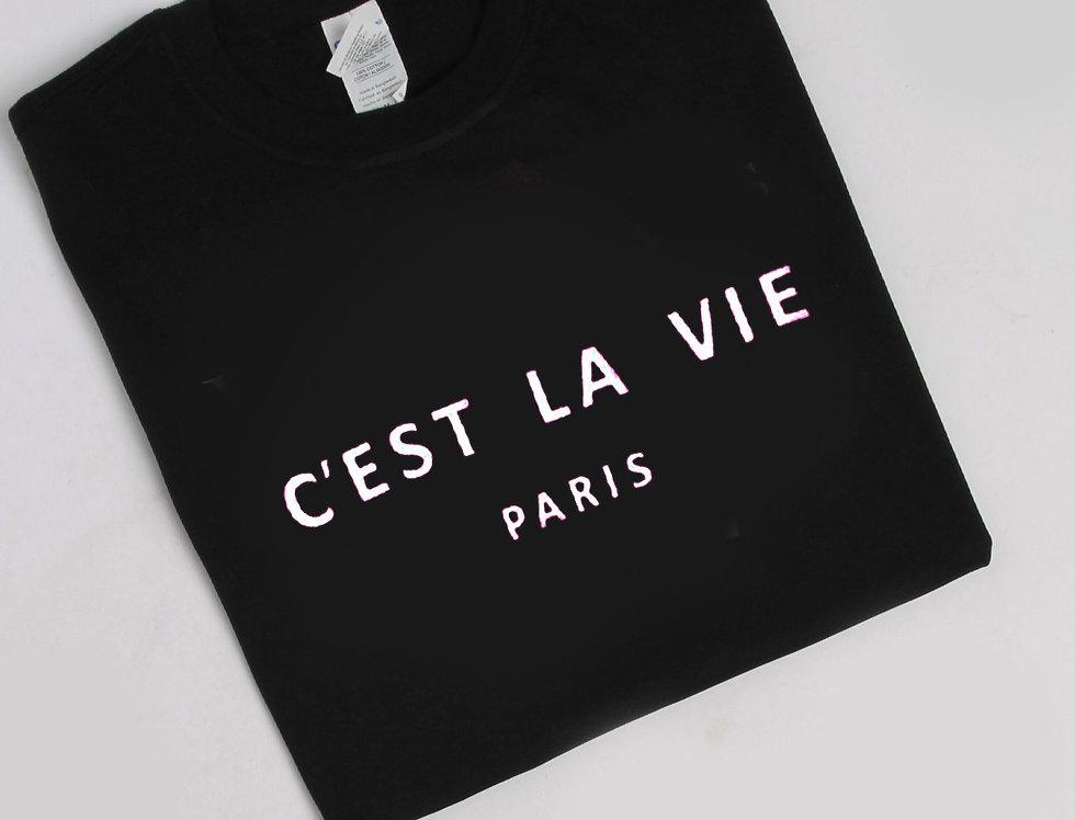 C'est La Vie Paris Slogan T-shirt