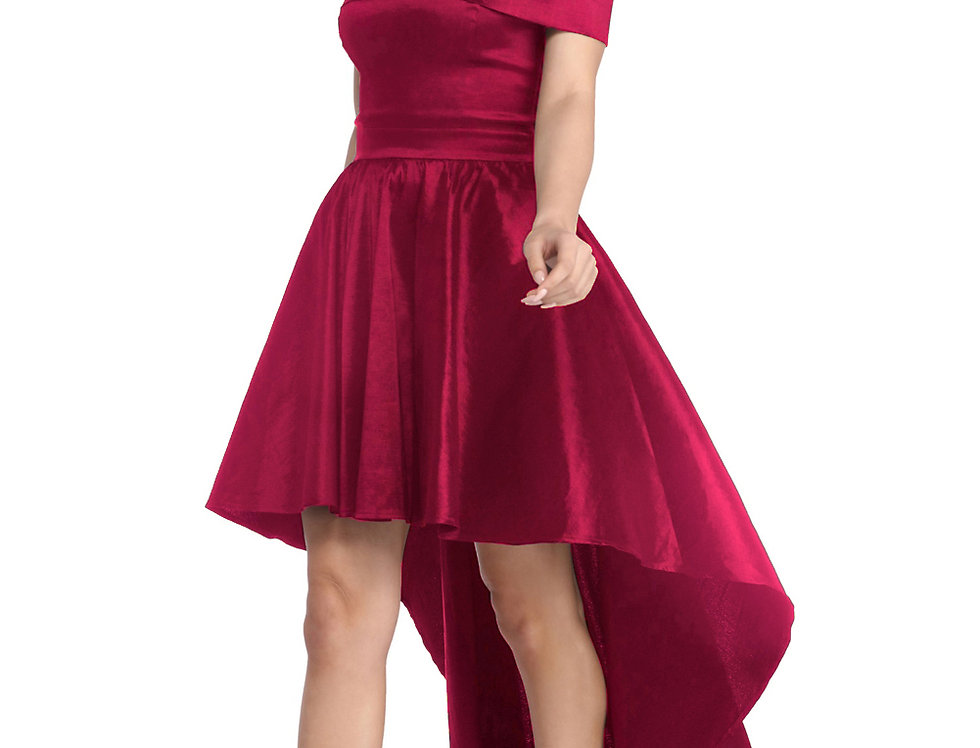 Erika Sweetheart High Low Skater Dress