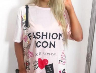 Fashion Icon Oversized T-shirt Dress