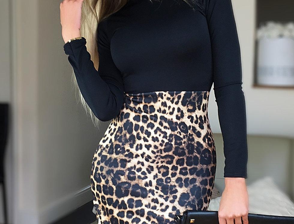 Flo Leopard Print Midi Dress