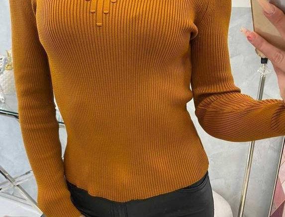 Mulan High Neck Ribbed Sweater Top