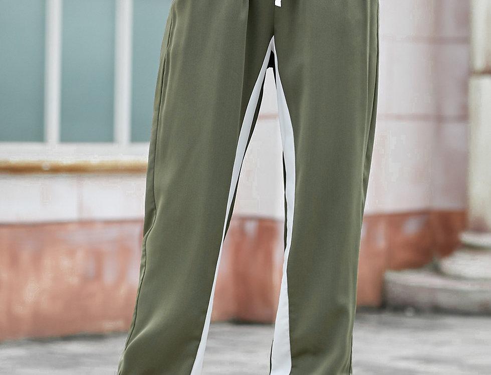 Karrie Stripe Drawstring Joggers