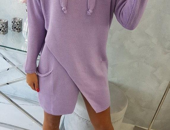 Echo Oversized Knitted Drawstring Jumper Dress