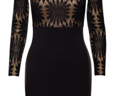 Olivia Gold Shimmer Bodycon Dress