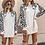 Thumbnail: Sona White Leopard Print Sweater Dress