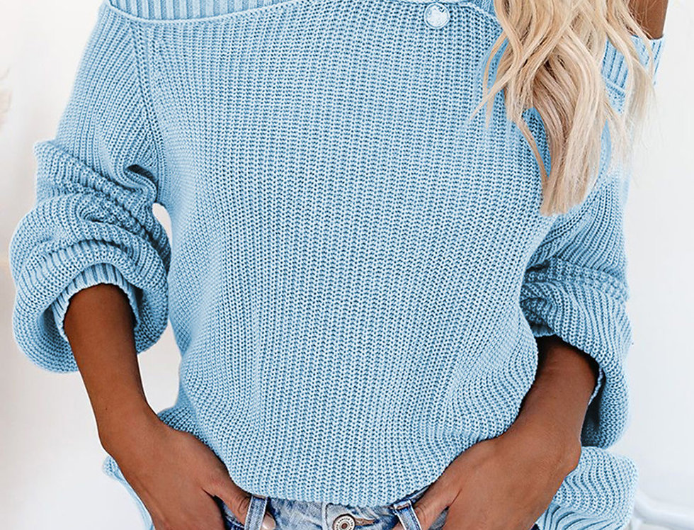 Nikki Cold Shoulder Knitted Keyhole  Jumper