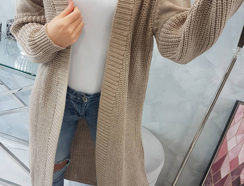 Becky Basic Longline Knitted Cardigan