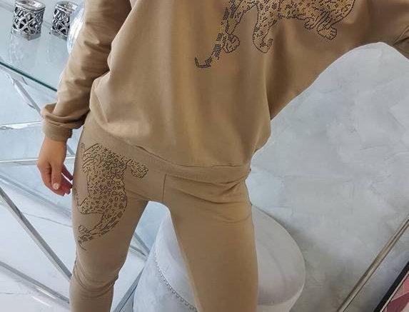 Nadia Leopard Embellished Lounge Set