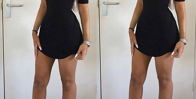 Kylie Curved Hem T-shirt Dress
