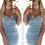 Thumbnail: Tammy Denim Bralet Bodycon Dress