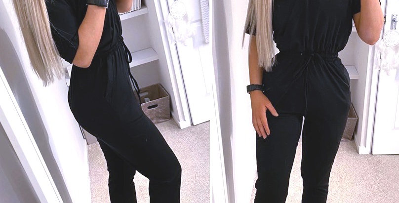 Ronnie Belted V Neck Lounge Day Jumpsuit