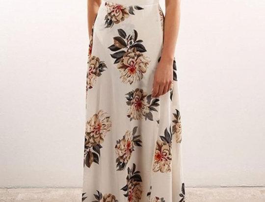 Gabriella Slit Leg Floral Halterneck Maxi Dress