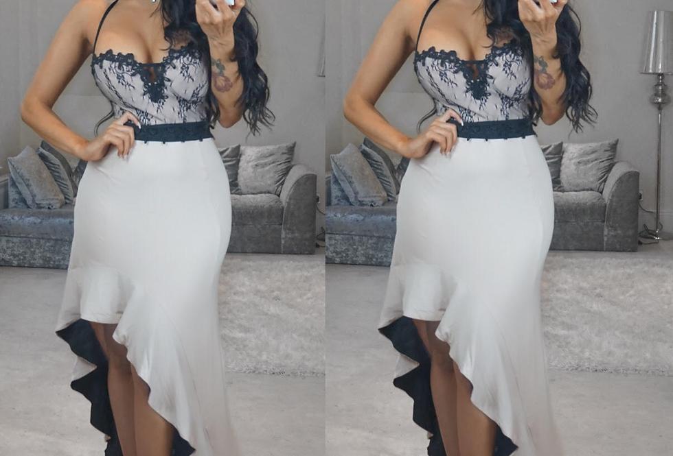 Ivy Sweetheart Asymmetrical Maxi Evening Dress
