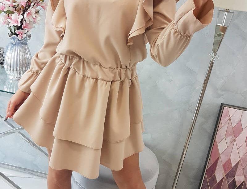 Jade Ruffle Long Sleeve Frill Dress